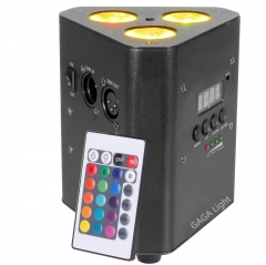 Battery 3x12W 4 in 1Powered WIRELESS DMX Par Can DJ Uplighting Up Light